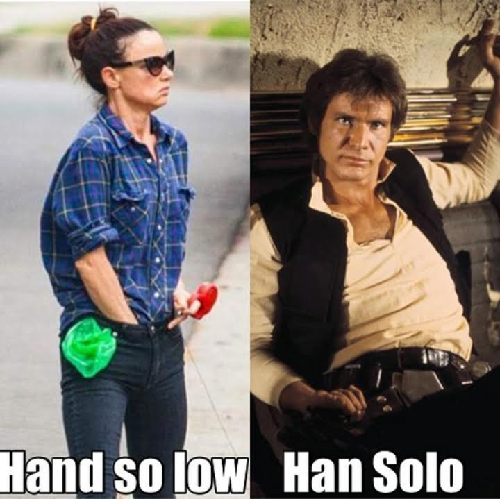 Juliette Lewis and Han Solo