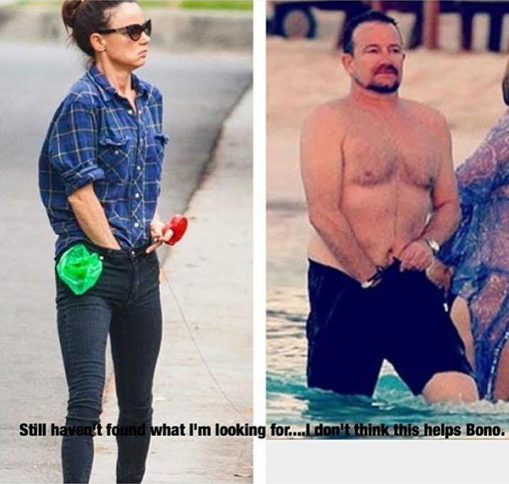 Juliette Lewis and Bono